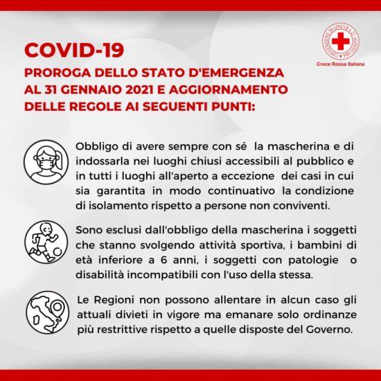 Coronavirus: prorogato lo Stato di Emergenza al 31 gennaio 2021