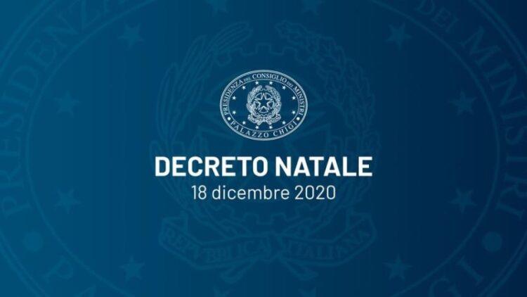 Decreto Legge n. 172 del 18 dicembre 2020